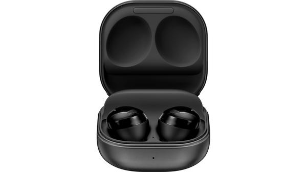 Tai nghe bluetooth Samsung Galaxy Buds Pro Đen mặt chính diện hộp mở