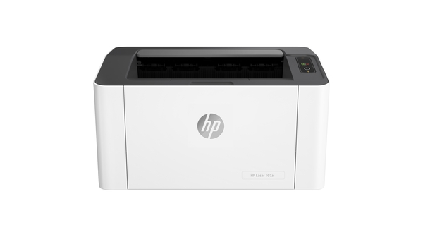 Máy in laser trắng đen HP 107A-4ZB77A mặt chính diện