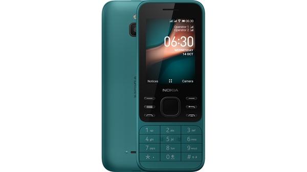Điện thoại Nokia 6300 4G Xanh mặt chính diện trước sau
