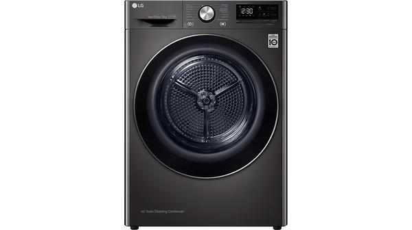 Máy sấy quần áo LG Inverter 9 kg DVHP09B mặt chính diện
