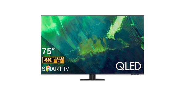 Smart Tivi QLED Samsung 4K 75 inch QA75Q70AAKXXV mặt chính diện