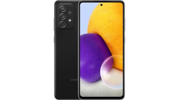 Điện thoại Samsung Galaxy A72 4G 256GB Đen mặt chính diện trước sau