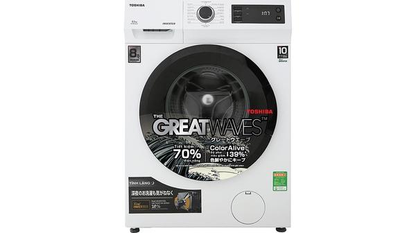 Máy giặt Toshiba 8.5 kg Inverter TW-BK95S2V(WK) mặt chính diện