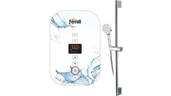Máy nước nóng trực tiếp Ferroli Amore GDP 4500W mặt chính diện