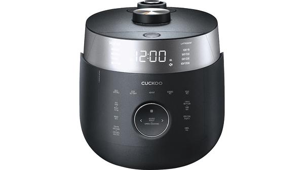 Nồi cơm điện Cuckoo 1.08 lít CRP-LHTR0609F Đen mặt chính diện