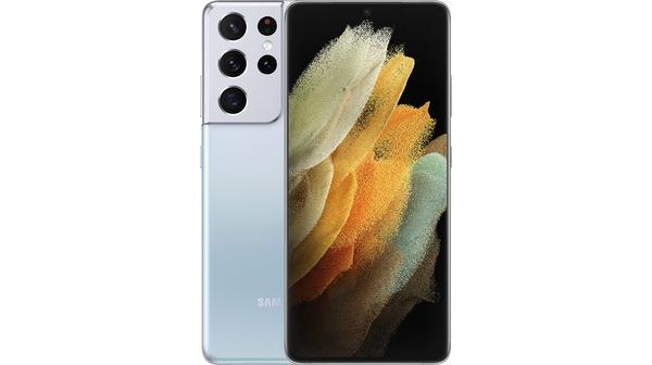 Điện thoại Samsung Galaxy S21 Ultra 5G 12GB/256GB Bạc mặt chính diện trước sau