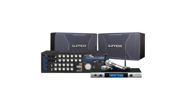Combo Loa Guinness KS-103G + Amply Jarguar PA-503AB + Micro Music HS-1080