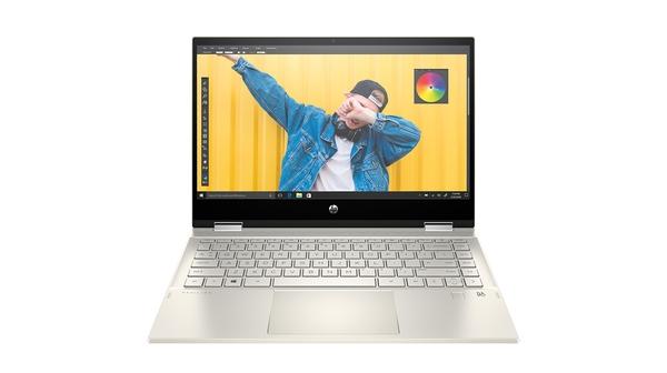 Laptop HP Pavilion X360 14-DW1016TU i3-1115G4 14 inch 2H3Q0PA mặt chính diện