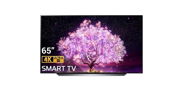 Smart Tivi OLED LG 4K 65 inch OLED65C1PTB mặt chính diện