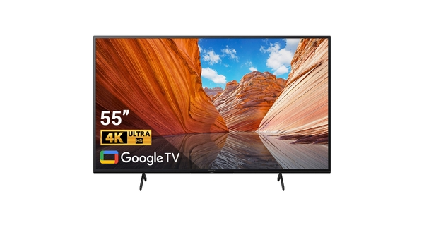 Google Tivi Sony 4K 55 inch KD-55X80J VN3 mặt chính diện