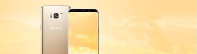 Điện thoại Samsung Galaxy S8 Plus vàng chính hãng tại Nguyễn Kim