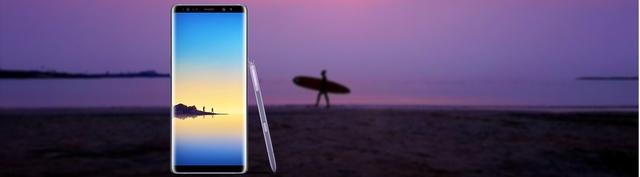 Điện thoại di động Samsung Galaxy Note 8 tím (SM-N950F/DS) chính diện
