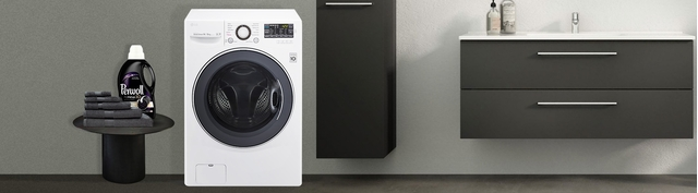Máy giặt LG Inverter 14 kg F2514DTGW premium mặt chính diện