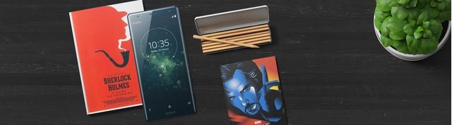 Điện thoại Sony Xperia XZ2 màu xanh mặt trước