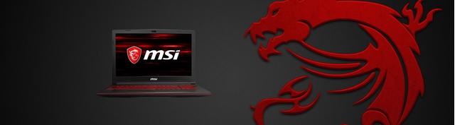 Laptop MSI GL63 8RD-099VN mặt trước
