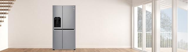 Tủ lạnh LG Inverter 601 lít GR-D247JDS premium mặt chính diện