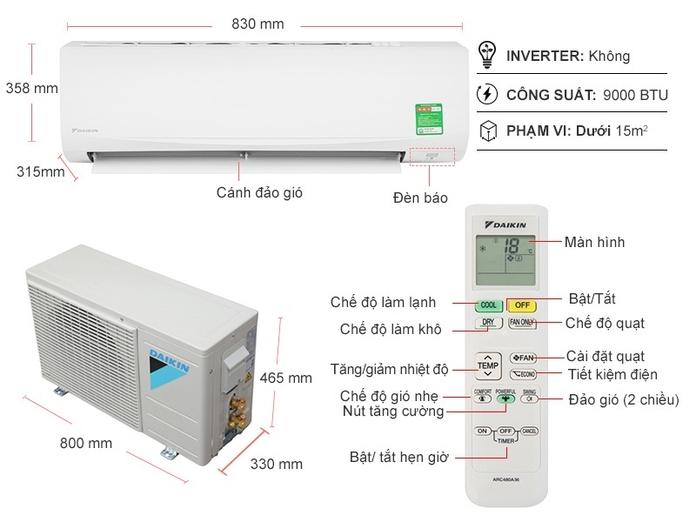 Máy lạnh Daikin 1 HP ATF25UV1V