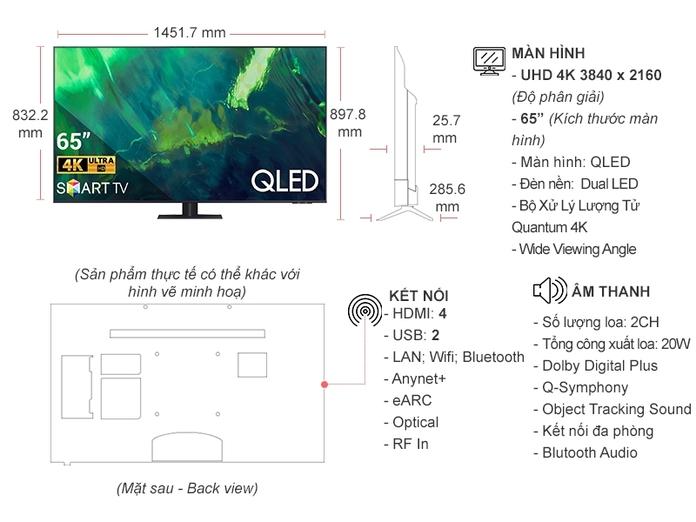 Smart Tivi QLED Samsung 4K 65 inch QA65Q70AAKXXV