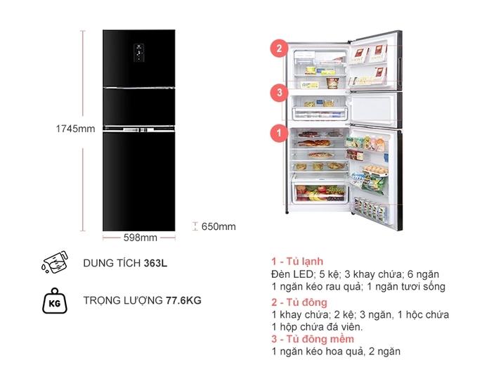 Tủ lạnh inverter Electrolux 337 lít EME3700H-H