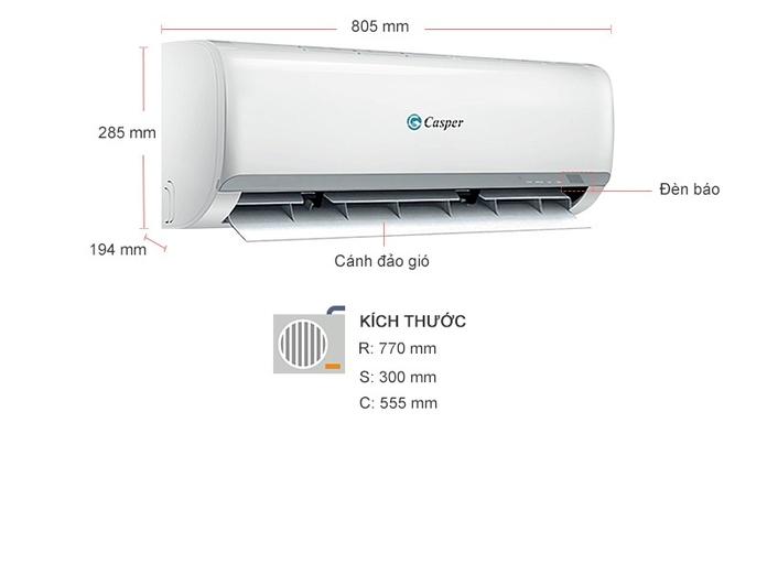 MÁY LẠNH TREO TƯỜNG CASPER 1.5 HP LC-12TL22