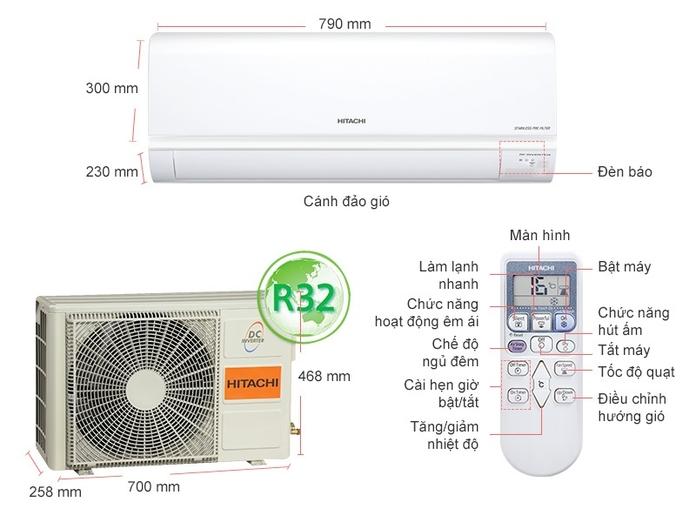 Máy Lạnh Hitachi Inverter 1HP RAS-X10CGV