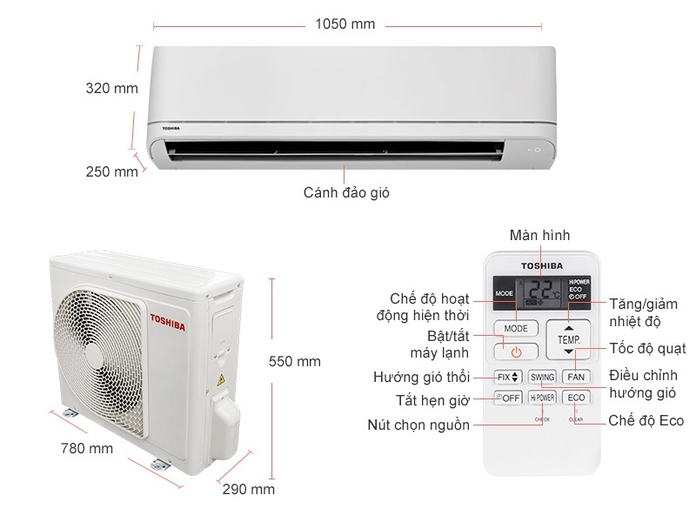 Máy lạnh Toshiba 2.5 HP RAS-H24U2KSG-V