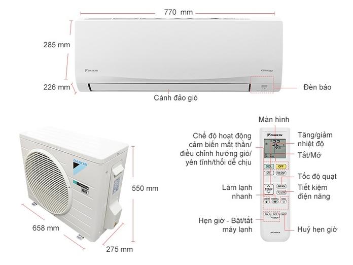 Máy lạnh Daikin Inverter 1 HP ATKC25TAVMV