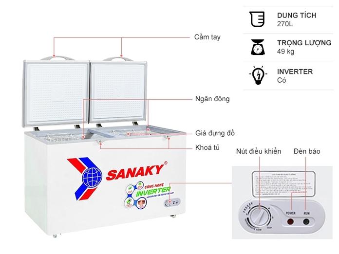 Tủ đông Sanaky Inverter 305 lít VH-4099A3