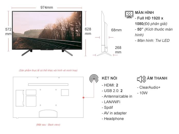 Smart Tivi Sony 50 inch KDL-50W660G VN3