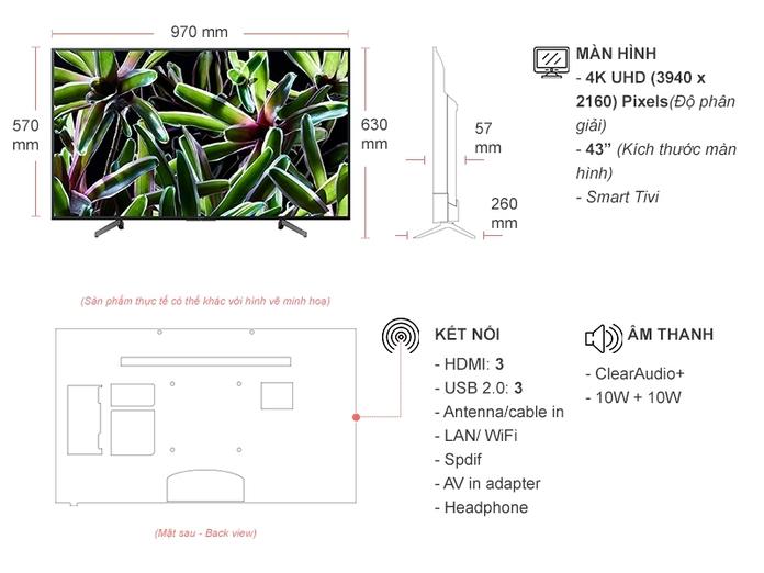Smart Tivi Sony 43 inch KD-43X7000G VN3