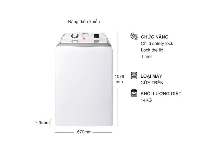Máy giặt Electrolux Inverter 14 kg EWT1454DCWA