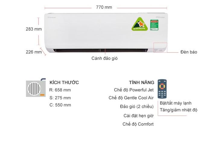 Máy lạnh Daikin Inverter 1 HP FTHF25RAVMV