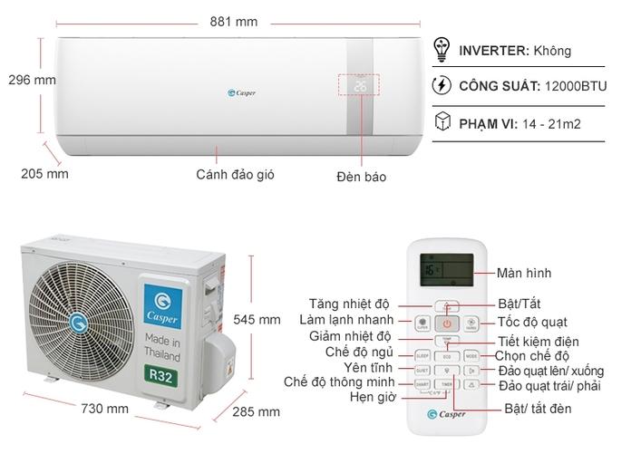 Máy lạnh Casper 1.5 HP SC-12TL32