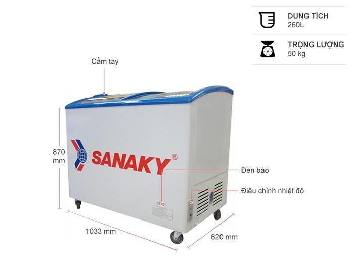 Tủ đông Sannaky 260 lít VH 382K