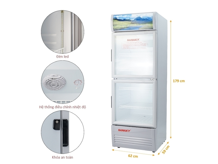 Tủ mát Sanaky 290 lít VH-358W