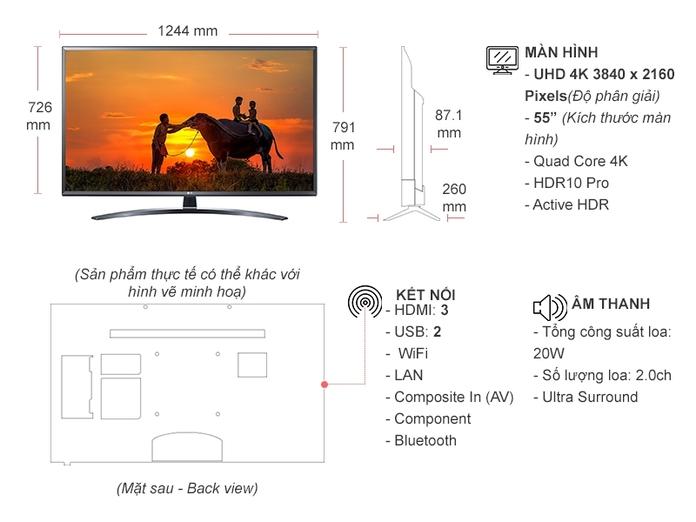 Smart Tivi LG 4K 55 inch 55UN7400PTA.ATV