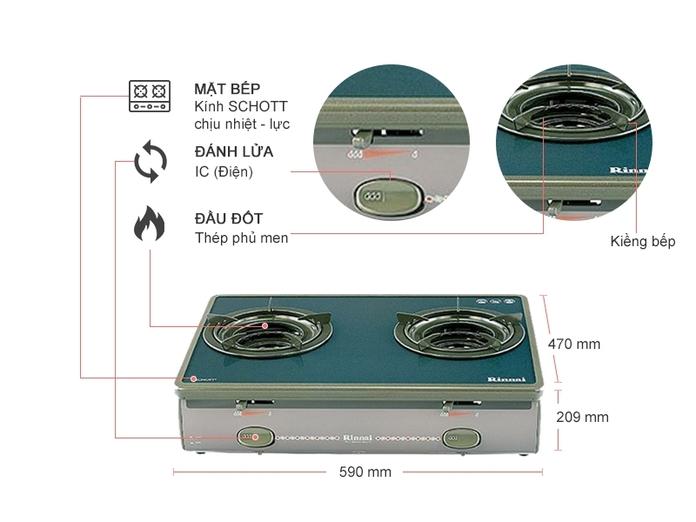 BẾP GAS RINNAI RV-5600-SCH(BK)