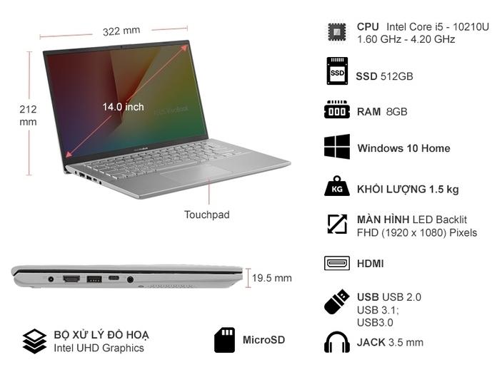 Laptop Asus A412FA-EK734T