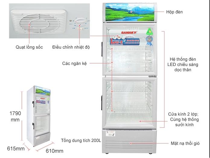 Tủ mát Sanaky 200 lít VH-258WL