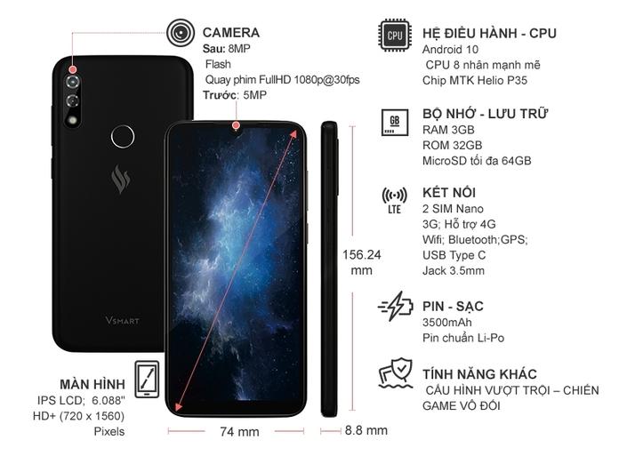 Điện thoại Vsmart Star 4 (3GB/32GB) Đen