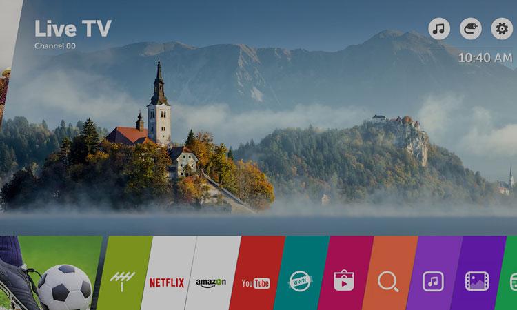 Magic Remote cùng giao diện WebOS tiện ích trên chiếc tivi Led 55 inch LG 55UJ632T