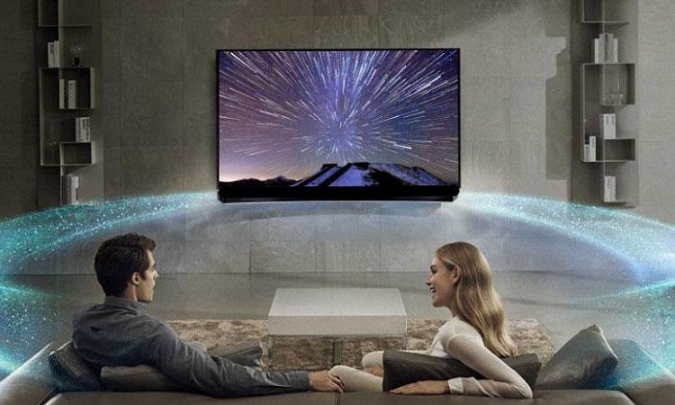 Âm thanh cực sống động trên tivi 55 inch LG Super UHD 55SJ850T