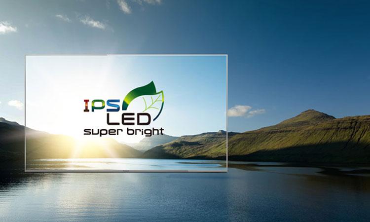 Cảm nhận hình ảnh thật sắc nét qua màn hình IPS siêu sáng