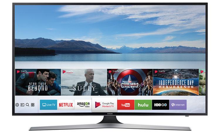 Kho ứng dụng phong phú trên tivi LED Samsung 50 inch UA50MU6100KXXV