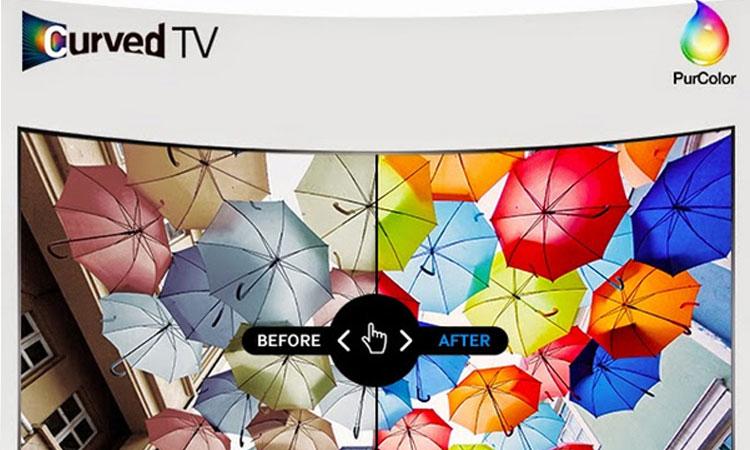 Công nghệ thể hiện hình ảnh đầy sống động và chân thực trên tivi LED Samsung 49 inch UA49M6300AKXXV