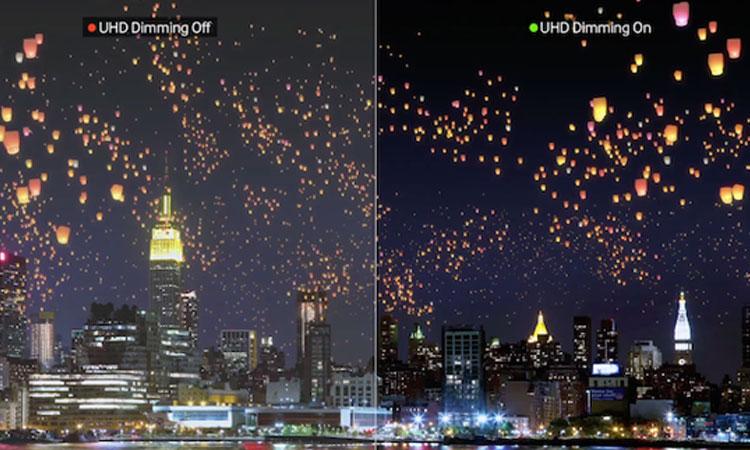 Smart Tivi LED Samsung 55 inch UA55MU6100KXXV cho hình ảnh rõ nét cùng độ phân giải UHD Dimming